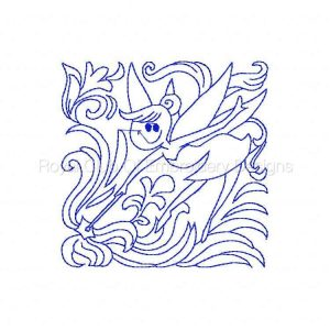 Royal Club Of Embroidery Designs - Machine Embroidery Patterns Cute Fairies Quilt Blocks Set