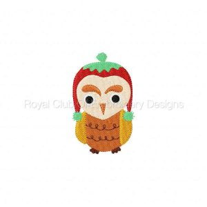 Royal Club Of Embroidery Designs - Machine Embroidery Patterns Cute Owls Set