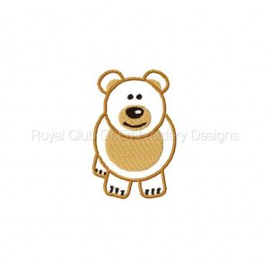 Royal Club Of Embroidery Designs - Machine Embroidery Patterns Cute Pudgy Animal Applique Set