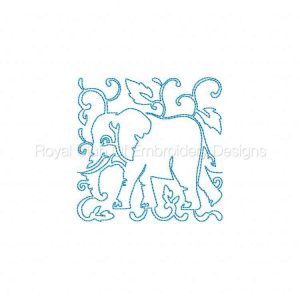Royal Club Of Embroidery Designs - Machine Embroidery Patterns Cute Savannah Blocks Set