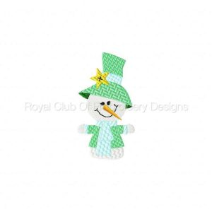 Royal Club Of Embroidery Designs - Machine Embroidery Patterns Cute Snowmen Set