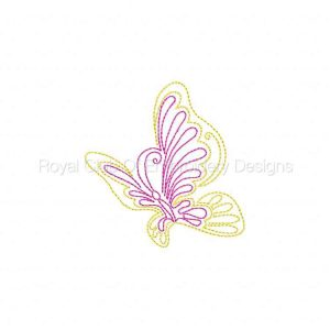 Royal Club Of Embroidery Designs - Machine Embroidery Patterns Colorwork Butterflies Set