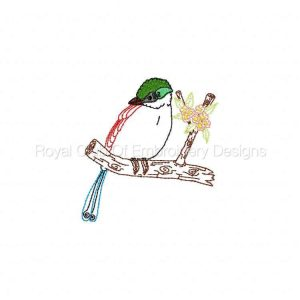 Royal Club Of Embroidery Designs - Machine Embroidery Patterns Colorwork Magpies Set