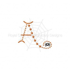 Royal Club Of Embroidery Designs - Machine Embroidery Patterns Cute Candlewick Spider Alphabet Set