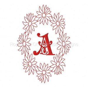 Royal Club Of Embroidery Designs - Machine Embroidery Patterns DD Daisy Alphabet Set