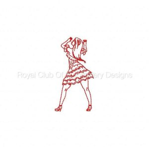 Royal Club Of Embroidery Designs - Machine Embroidery Patterns Dancer Set