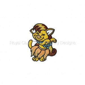 Royal Club Of Embroidery Designs - Machine Embroidery Patterns Dancing Animals Set