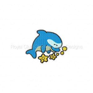 Royal Club Of Embroidery Designs - Machine Embroidery Patterns Darling Dolphins Set