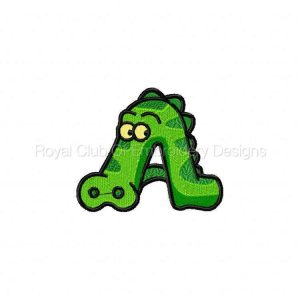 Royal Club Of Embroidery Designs - Machine Embroidery Patterns DD Animal Alphabet Set