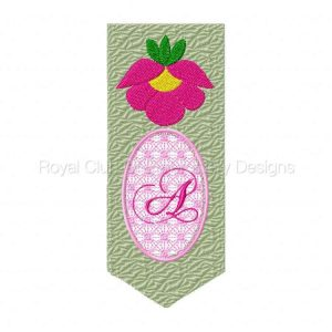 Royal Club Of Embroidery Designs - Machine Embroidery Patterns DD Bookmarker Alphabet Set