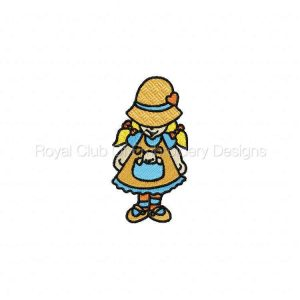 Royal Club Of Embroidery Designs - Machine Embroidery Patterns DD Cute Bonnets Set