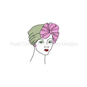 Royal Club Of Embroidery Designs - Machine Embroidery Patterns DD Elegant Ladies Set