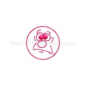 Royal Club Of Embroidery Designs - Machine Embroidery Patterns DD Funny Faces Set
