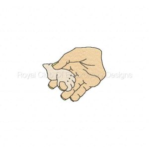 Royal Club Of Embroidery Designs - Machine Embroidery Patterns DD In Gods Hands Set