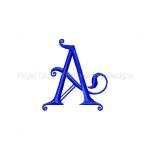 Royal Club Of Embroidery Designs - Machine Embroidery Patterns DD Kingdom Alphabet Set