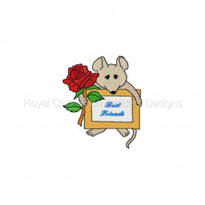 Royal Club Of Embroidery Designs - Machine Embroidery Patterns DD Mouse Notes Set
