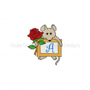 Royal Club Of Embroidery Designs - Machine Embroidery Patterns DD Mouse Notes Alphabet Set