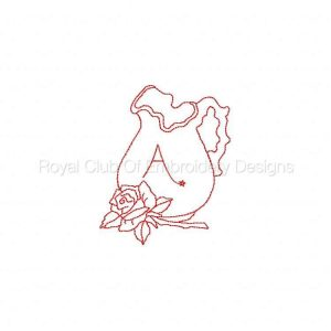Royal Club Of Embroidery Designs - Machine Embroidery Patterns DD Rose Pitcher Alphabet Set