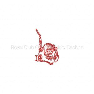 Royal Club Of Embroidery Designs - Machine Embroidery Patterns DD Tigers Set