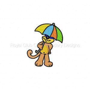 Royal Club Of Embroidery Designs - Machine Embroidery Patterns DD Umbrella Critters Set