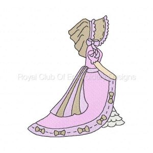Royal Club Of Embroidery Designs - Machine Embroidery Patterns DD Victorian Bonnets of Yesteryear Set