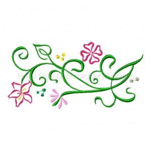 Royal Club Of Embroidery Designs - Machine Embroidery Patterns Decorative Flower Embellishments Set