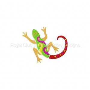 Royal Club Of Embroidery Designs - Machine Embroidery Patterns Deco Lizards Set