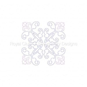 Royal Club Of Embroidery Designs - Machine Embroidery Patterns Decorative Blocks 2 Set