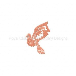 Royal Club Of Embroidery Designs - Machine Embroidery Patterns Decorative Doves Set