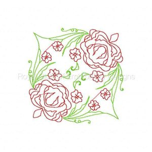 Royal Club Of Embroidery Designs - Machine Embroidery Patterns Deco Spring Floral Blocks Set