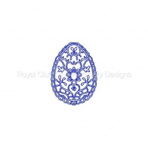 Royal Club Of Embroidery Designs - Machine Embroidery Patterns Decorative Redwork Easter Eggs Set