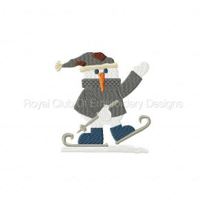 Royal Club Of Embroidery Designs - Machine Embroidery Patterns Delightful Snowmen Set