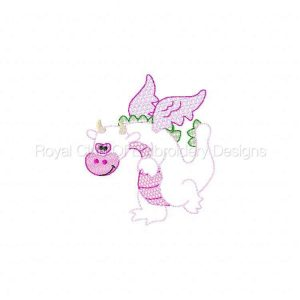 Royal Club Of Embroidery Designs - Machine Embroidery Patterns Partial Filled Dinos Set