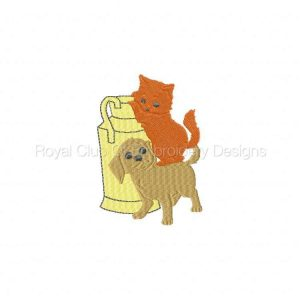 Royal Club Of Embroidery Designs - Machine Embroidery Patterns Dog and Kitty Set