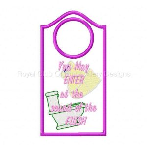 Royal Club Of Embroidery Designs - Machine Embroidery Patterns Door Hangers Set