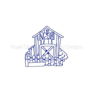 Royal Club Of Embroidery Designs - Machine Embroidery Patterns Down on the Farm Redwork Set