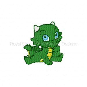 Royal Club Of Embroidery Designs - Machine Embroidery Patterns Dragon Babies Set