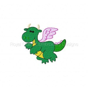 Royal Club Of Embroidery Designs - Machine Embroidery Patterns Dragons Set