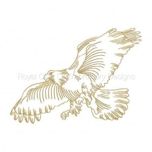 Royal Club Of Embroidery Designs - Machine Embroidery Patterns Eagle Outlines Set
