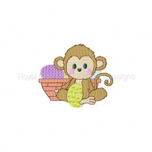 Royal Club Of Embroidery Designs - Machine Embroidery Patterns Easter Monkeys Set