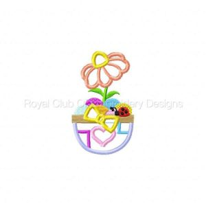 Royal Club Of Embroidery Designs - Machine Embroidery Patterns Easter Time Applique Set