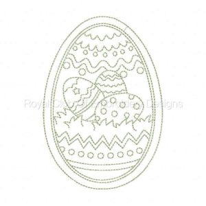 Royal Club Of Embroidery Designs - Machine Embroidery Patterns Elegant Lineart Easter Eggs Set