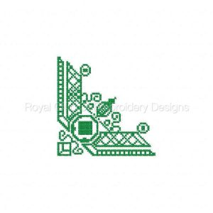 Royal Club Of Embroidery Designs - Machine Embroidery Patterns Elegant Corners Set