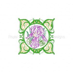Royal Club Of Embroidery Designs - Machine Embroidery Patterns Elegant Flower Blocks Set