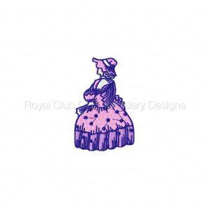 Royal Club Of Embroidery Designs - Machine Embroidery Patterns Elegant Ladies 2 Set