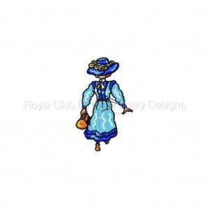 Royal Club Of Embroidery Designs - Machine Embroidery Patterns Elegant Ladies Set