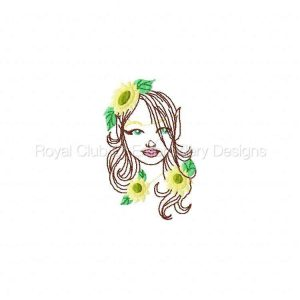 Royal Club Of Embroidery Designs - Machine Embroidery Patterns Fairies And Flowers Set