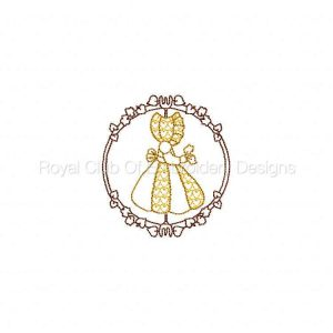 Royal Club Of Embroidery Designs - Machine Embroidery Patterns Fall Time Sunbonnet Girls Set
