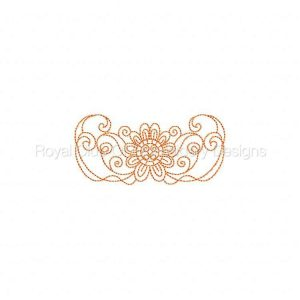 Royal Club Of Embroidery Designs - Machine Embroidery Patterns Lineart Fantasy Flowers Set