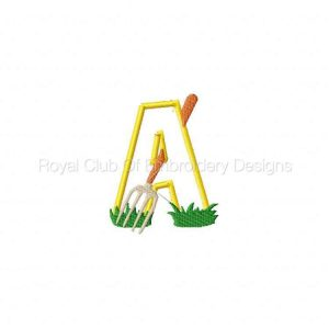 Royal Club Of Embroidery Designs - Machine Embroidery Patterns Farm Animal Applique Alphabet Set